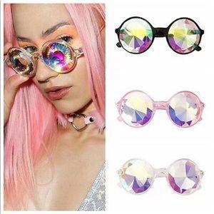 New ✨ White Kaleidoscope Festival Sunglasses 🍭